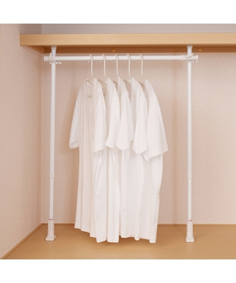 伸縮式突っ張り押入れ用ハンガー 衣装ケース・プラスチックケース・押入収納, Closet storage(ニッセン、nissen)