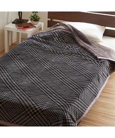 【昭和西川】ふわふわフランネルグレンチェック中綿入り2枚合わせ毛布 毛布・ブランケットの商品画像