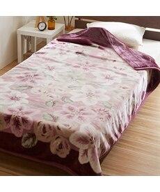 【昭和西川】ふっくら2枚合わせ毛布(オードリー) 毛布・ブランケットの商品画像