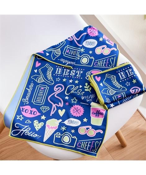 サマータイム クールタオル同色2枚セット タオル, Towels(ニッセン、nissen)