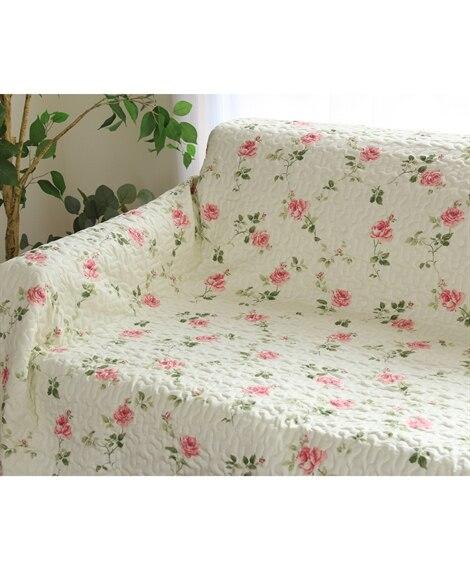 エレガントローズ柄キルトマルチカバー マルチカバー, Sof...