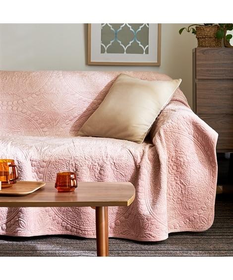 やわらかな肌ざわりの上品なリバーシブルキルトマルチカバー マルチカバー, Sofa covers(ニッセン、nissen)