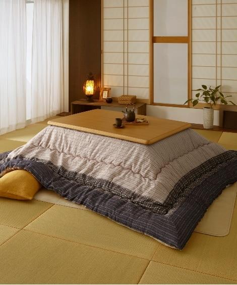 【日本製】綿100%しじら柄 ボリューム大判こたつ掛布団 こ...