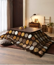 【日本製。洗える】モダンドット柄 スムースタッチなこたつ掛け布団 こたつ布団の商品画像