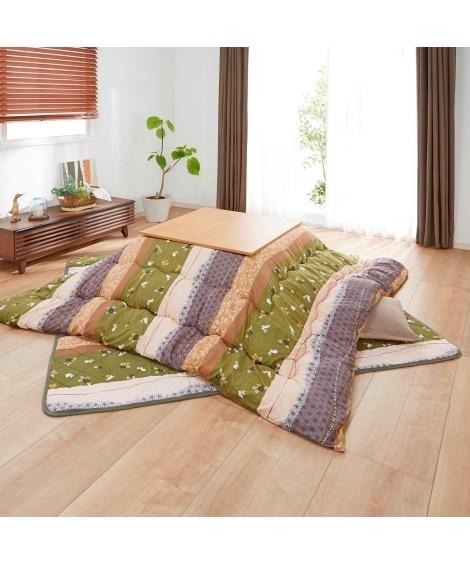 【お得なセット。大判タイプ】日本製。洗える 和うさぎ柄ボリュームこたつ掛敷布団セット こたつ布団の写真