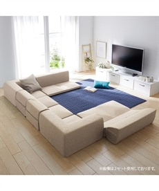 【日本製】コーナーフロアソファー3点セット カウチ・コーナーソファー(ニッセン家具)の商品画像