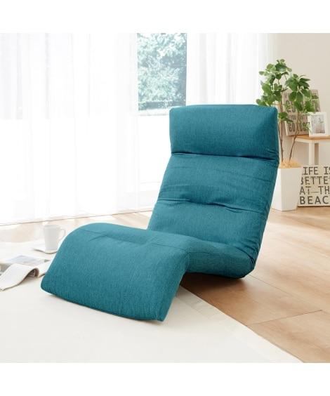 リラックスリクライニングソファー下タイプ 座椅子・ビーズクッションの写真