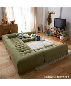 【日本製】コーナーフロアソファー3点セット ソファーの商品画像