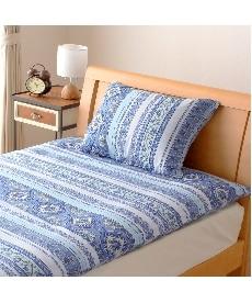 綿混抗菌防臭加工 地中海風柄枕カバー(エルニド) 枕カバー・ピローパッドの商品画像