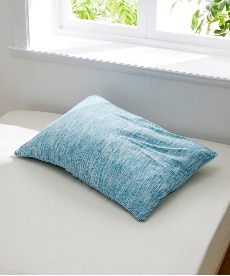 杢柄のTシャツのような肌触り(天竺ニット)綿混枕カバー(ファスナータイプ)(カーマン) 枕カバー・ピローパッドの小イメージ