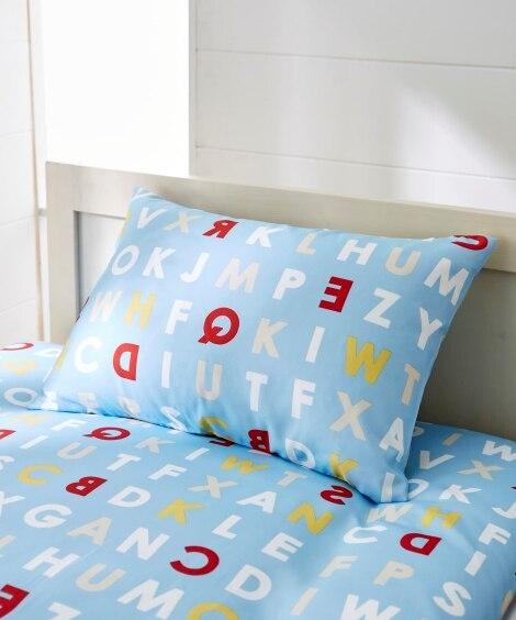 アルファベットプリント枕カバー(選べる2サイズ) 枕カバー・...