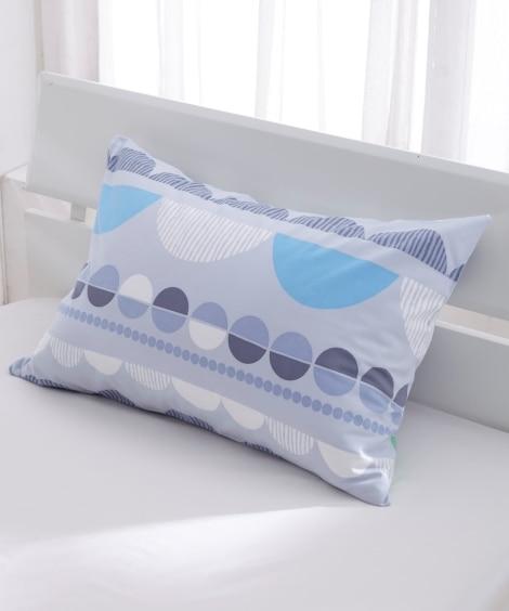 日本製綿100%北欧風ハーフドット柄枕カバー(ファスナータイ...