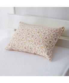 綿100%ピローケース同色2枚組(フラワー柄) 枕カバー・ピローパッドの商品画像