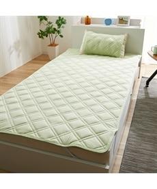 Tシャツのような肌触り オーガニックコットン100%のニット地 敷パッド 敷きパッド・ベッドパッドの商品画像