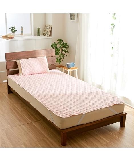 秋から春先まで使える!綿100%フラノの敷パッド(無地) 敷きパッド・ベッドパッドの写真