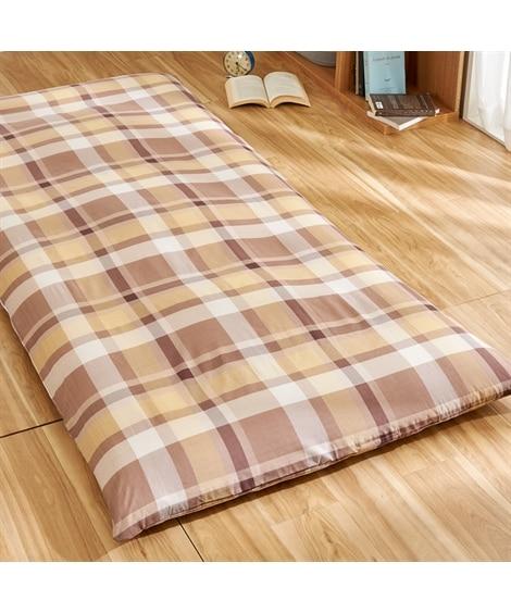 着脱簡単!綿混チェック柄敷き布団カバー(L字ファスナータイプ) 敷き布団カバー, Bedding Duvet Covers(ニッセン、nissen)