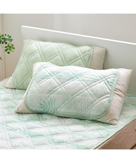 接触冷感素材と綿100%タオル地素材のリバーシブル枕パッド(...