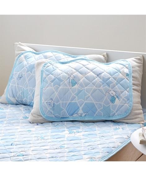 ピーターラビット(TM) のひんやり接触冷感素材の枕パッド(...