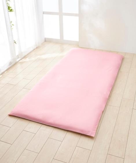 選べる7色ソフトリバーシブルカラー 日本製綿100%シルクフィブロイン加工付敷布団カバー(L字ファスナータイプ) 敷き布団カバーと題した写真