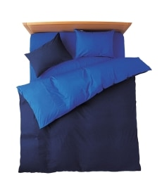 選べる7色ディープリバーシブルカラー 日本製綿100%シルクフィブロイン加工付布団カバーセット(枕カバー。掛け布団カバー) 布団カバーセットの商品画像
