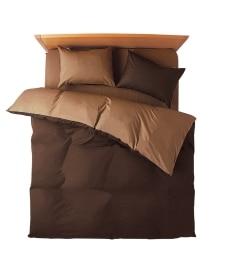 <ニッセン> 選べる7色ディープリバーシブルカラー 日本製綿100%シルクフィブロイン加工付布団カバーセット(枕カバー。掛け布団カバー) 布団カバーセット 1