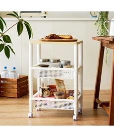 ウッドテーブルワゴン キッチンワゴンの商品画像