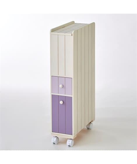 【荷造送料0円実施中】キャスター付ナチュラルトイレラック サ...
