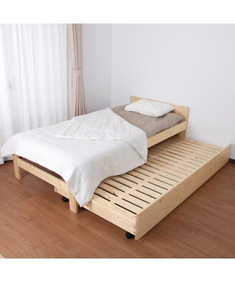 【荷造送料0円実施中】組合せ自由天然木すのこベッド ベッド(...