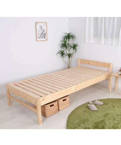 3段階高さ調整天然木すのこベッド すのこベッド・畳ベッド, ...