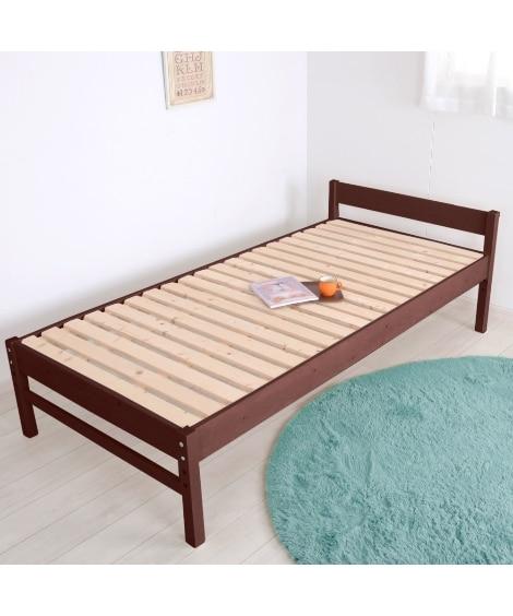 3段階高さ調整天然木すのこベッド ベッド