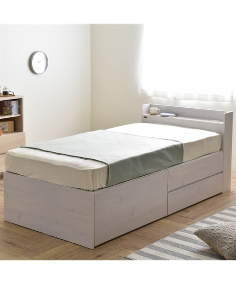 ベッド下が大容量の収納スペースになる収納ベッド 収納付きベッ...