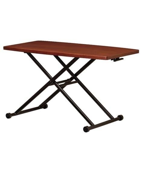 タモ突板ガス圧昇降式テーブル ローテーブル・リビングテーブル