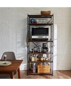 幅が選べるスライド棚付家電ラック レンジボード・家電ラックの商品画像