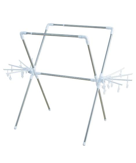 簡単組み立て万能物干し KBH-230XR 掃除・洗濯 物干し竿・室内物干し(ニッセン、nissen)