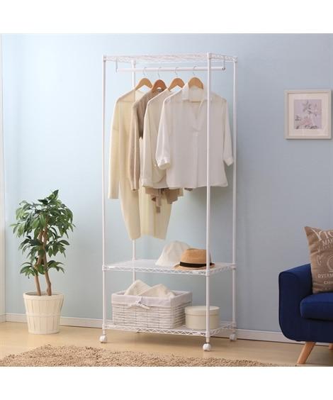 お部屋に馴染むマットカラーのメタルハンガーラック ハンガーラック・ワードローブ, Clothes racks(ニッセン、nissen)