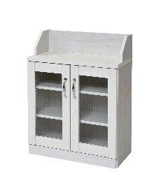 木目調カウンター下収納 キッチンカウンター・キッチンワゴンの商品画像