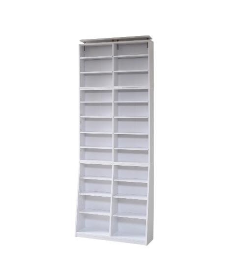 1cmピッチ薄型大容量文庫本ラック 書棚・本棚・ブックシェルフの写真