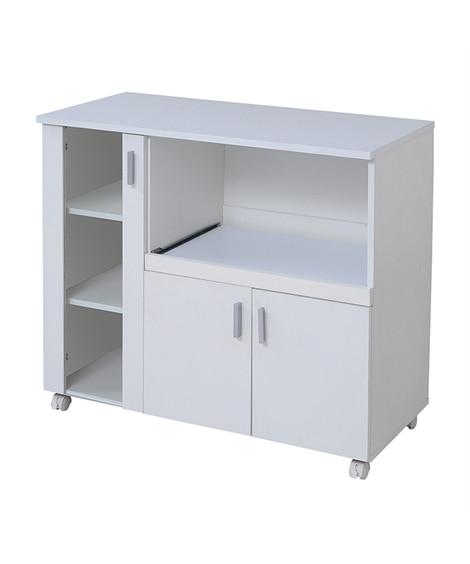 シンプルデザインのカウンターワゴン 食器棚