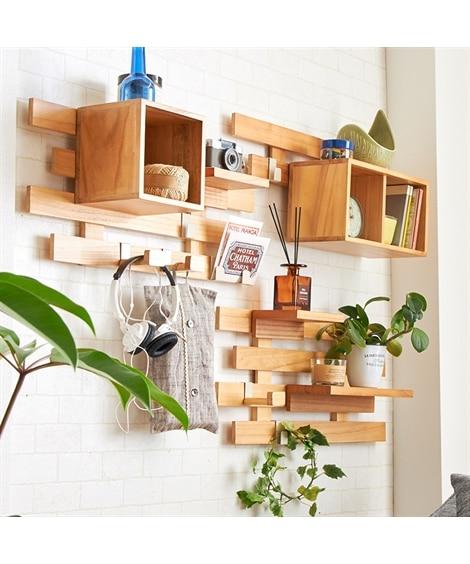 【工具不要】穴が目立ちにくい飾れるすのこ壁掛けラック シェルフ・ラック, Racks(ニッセン、nissen)