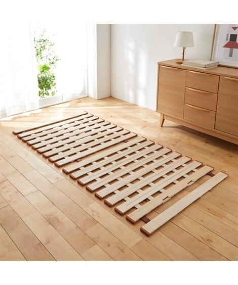 薄型軽量桐製すのこベッド(二つ折り式) すのこベッド・畳ベッド, Beds(ニッセン、nissen)