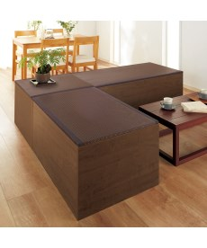 <ニッセン>お手入れしやすい樹脂畳ユニット ソファー・座椅子 2