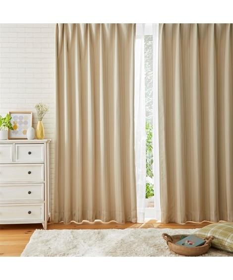 【送料無料!】ストライプ柄1級遮光カーテン&レースセット カーテン&レースセット, Curtains, sheer curtains, net curtains(ニッセン、nissen)