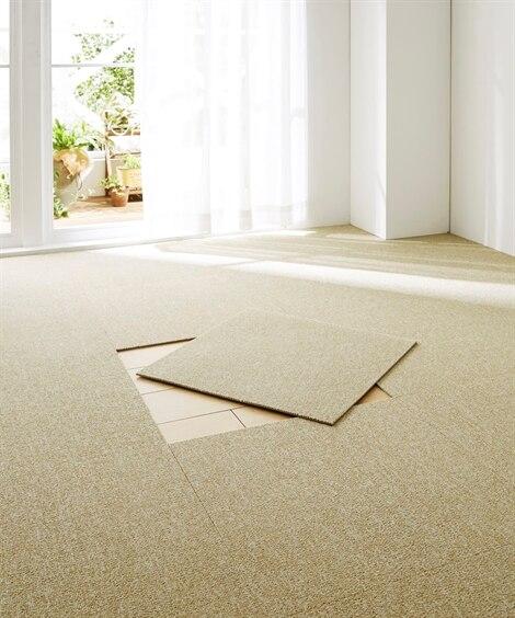 防音タイプ防炎はっ水タイルカーペット(16枚セット)日本製 ...