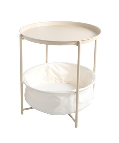 収納付きトレイテーブル RUNDA(ルンダ) サイドテーブル, Tables(ニッセン、nissen)
