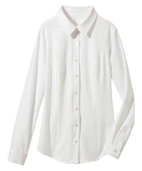 <ニッセン> 人気のため再入荷!!ヨコすごのびファスナー使いシャツ(ゆったりバスト) (大きいサイズレディース)ブラウスplus size