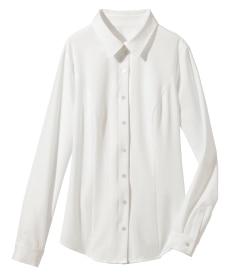 <ニッセン> 人気のため再入荷!!ヨコすごのびファスナー使いシャツ(ゆったりバスト) (大きいサイズレディース)ブラウスplus size 1