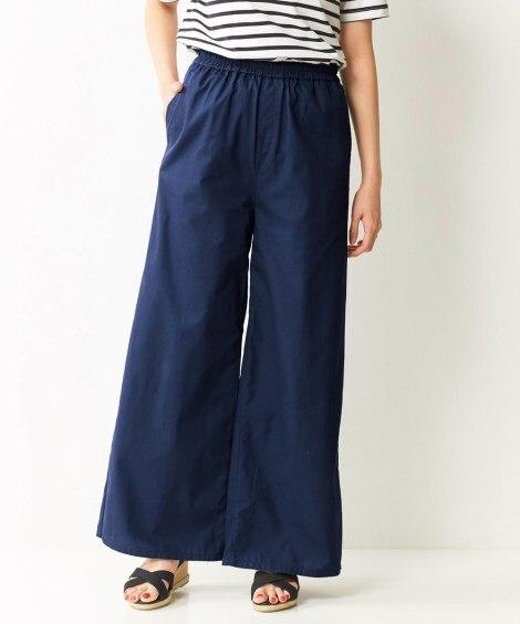 【大きいサイズ】 綿100%9分丈イージーパンツ(股下70cm) パンツ, plus size pants