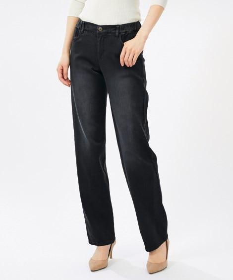 【大きいサイズ】 モニターさんと一緒に作ったよく伸びるすっきり見えデニムストレートパンツ(68)(オトナスマイル) パンツ, plus size pants