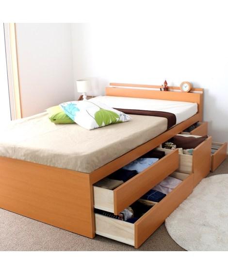 スライドレール付チェストベッド 収納付きベッド