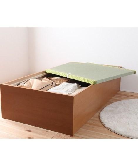 イ草張り大収納ベッド 収納付きベッド